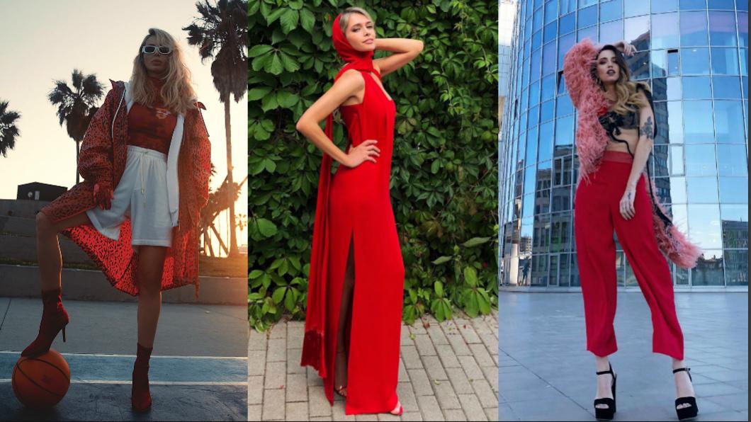 Звезды показали, как носить вещи красного цвета
